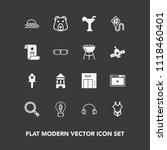 modern  simple vector icon set... | Shutterstock .eps vector #1118460401