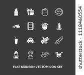 modern  simple vector icon set... | Shutterstock .eps vector #1118460554
