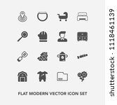 modern  simple vector icon set... | Shutterstock .eps vector #1118461139
