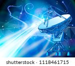 satellite dishes antenna  ... | Shutterstock .eps vector #1118461715