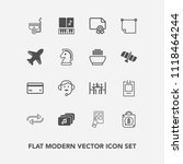 modern  simple vector icon set... | Shutterstock .eps vector #1118464244