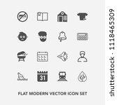 modern  simple vector icon set... | Shutterstock .eps vector #1118465309