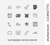 modern  simple vector icon set... | Shutterstock .eps vector #1118467751