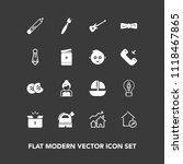 modern  simple vector icon set... | Shutterstock .eps vector #1118467865