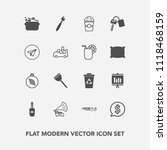 modern  simple vector icon set... | Shutterstock .eps vector #1118468159