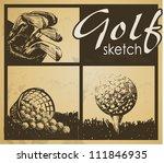 set of vintage patterns. golf   Shutterstock .eps vector #111846935