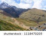 gergeti   may 4  tourists enjoy ... | Shutterstock . vector #1118470205