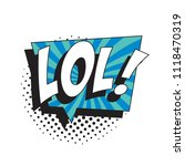 abbreviation lol   laugh out... | Shutterstock .eps vector #1118470319