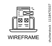 wireframe icon. element of web...
