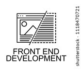 front end development icon....