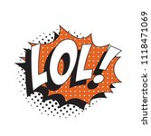 abbreviation lol   laugh out... | Shutterstock .eps vector #1118471069