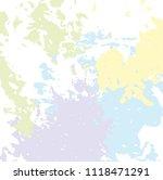 vector color brush spots ... | Shutterstock .eps vector #1118471291
