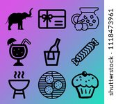 vector icon set  about birthday ... | Shutterstock .eps vector #1118473961
