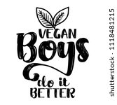 vegan girls do it better.  ... | Shutterstock .eps vector #1118481215