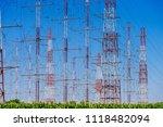 high voltage power tower...   Shutterstock . vector #1118482094