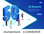 isometric 5g network wireless... | Shutterstock .eps vector #1118483405