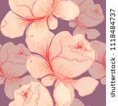 pattern watercolor  pink roses  ... | Shutterstock . vector #1118484737