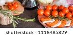 italian bruschetta with chopped ... | Shutterstock . vector #1118485829