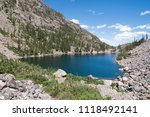 Emerald Lake In Rocky Mountain National Park Estes Park Colorado United States In Summer With Hallet