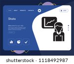 quality one page stats website... | Shutterstock .eps vector #1118492987
