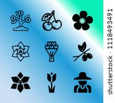 vector icon set about gardening ... | Shutterstock .eps vector #1118493491