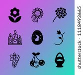 vector icon set about flowers... | Shutterstock .eps vector #1118493665