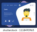 quality one page geek website... | Shutterstock .eps vector #1118493965