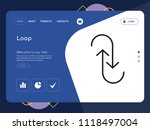 quality one page loop website...   Shutterstock .eps vector #1118497004