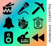 vector icon set  about music... | Shutterstock .eps vector #1118497901