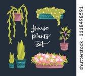 indoor plants. house plants set.... | Shutterstock .eps vector #1118498591