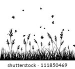 vector grass silhouettes...