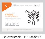 quality one page fireworks... | Shutterstock .eps vector #1118505917