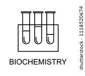 biochemistry line icon. element ...   Shutterstock . vector #1118520674