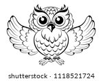 Stock vector owl abstract vector clip art 1118521724