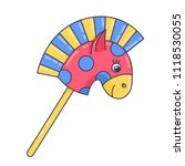 horse on stick children toy... | Shutterstock .eps vector #1118530055