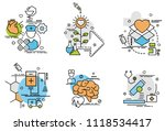 set of outline icons of... | Shutterstock .eps vector #1118534417
