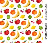summer seamless pattern with... | Shutterstock .eps vector #1118534651