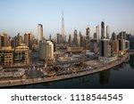 dubai downtown panorama.... | Shutterstock . vector #1118544545