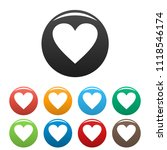 dull heart icon. simple...   Shutterstock . vector #1118546174