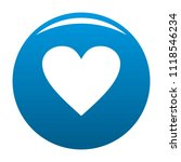 dull heart icon. simple...   Shutterstock . vector #1118546234