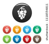 Isabella grapes icon. Simple illustration of isabella grapes icons set color isolated on white