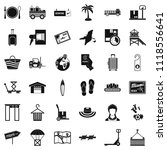shipment icons set. simple set... | Shutterstock . vector #1118556641