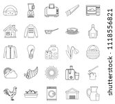 genus icons set. outline set of ...