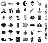 village life icons set. simple... | Shutterstock . vector #1118557109
