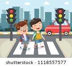 vector illustration of kids... | Shutterstock .eps vector #1118557577