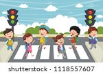 vector illustration of kids... | Shutterstock .eps vector #1118557607