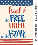 land of the free  home of the... | Shutterstock .eps vector #1118567864