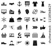 shipment icons set. simple... | Shutterstock . vector #1118568629