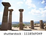 columns of the temple athena at ... | Shutterstock . vector #1118569349