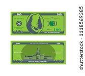 one hundred dollar banknote...   Shutterstock .eps vector #1118569385